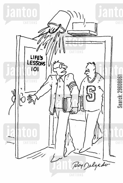 life lessons cartoon humor: Life's lessons 101.