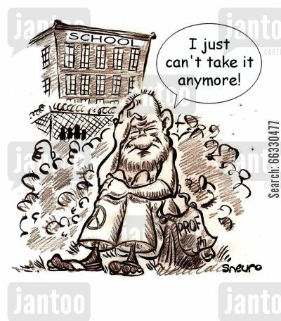 burnout cartoon humor: I just can't take it anymore!