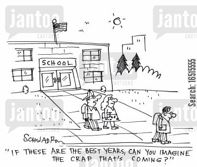 best years of your life cartoon humor: 'If these are the best years, can you imagine the crap that's coming?'