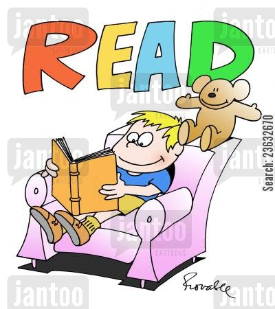 bookworms cartoon humor: Read!