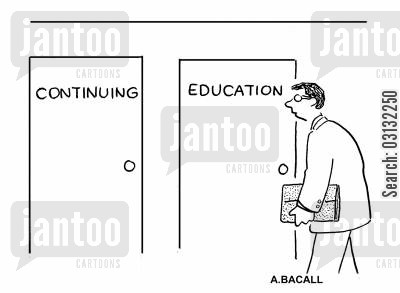 school days cartoon humor: Continuing education.