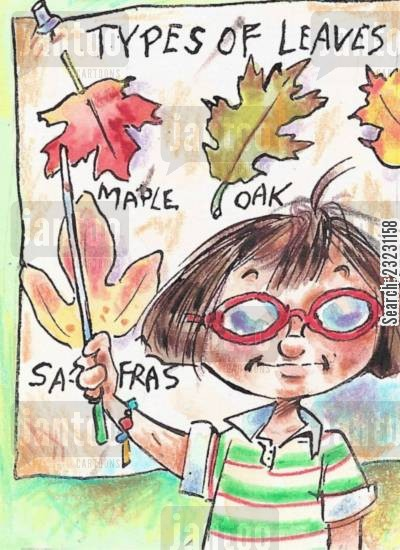 elementary school cartoon humor: Know Your Leaves