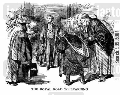 students cartoon humor: The Royal Road to Learning