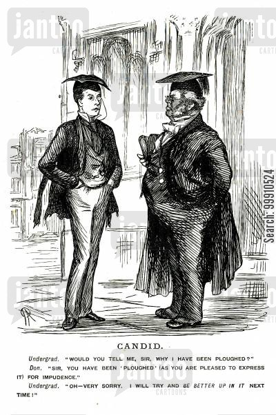 ploughed cartoon humor: Undergraduate and don