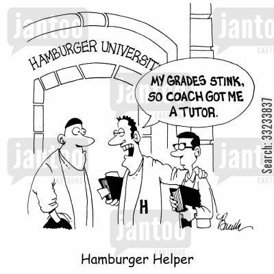tutored cartoon humor: Hamburger Helper