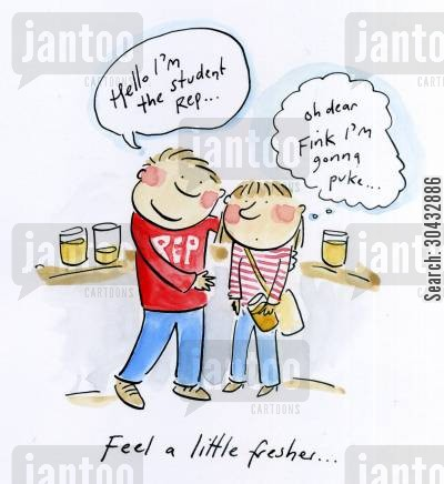 freshers week cartoon humor: Feel a little fresher...