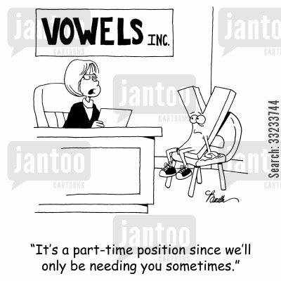 part-time position cartoon humor: 'It's a part-time position since we'll only be needing you sometimes.'