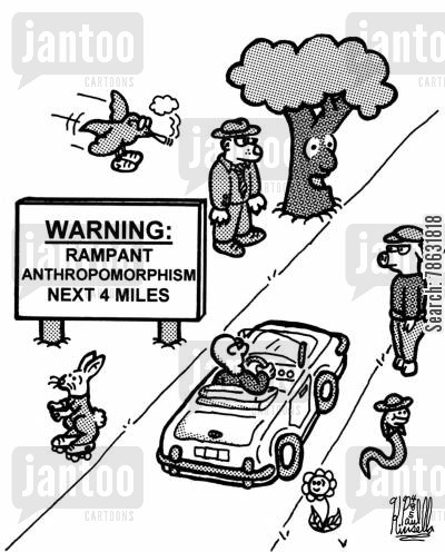 anthropomorphism cartoon humor: Warning: Rampant anthropomorphism next 4 miles