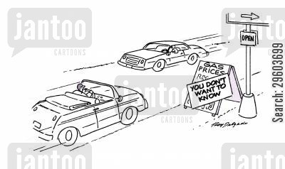 gas price cartoon humor: Gas Prices.