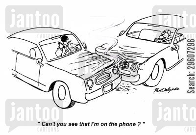 rudeness cartoon humor: 'Can't you see that I'm on the phone?'