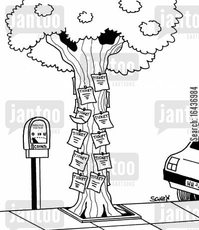traffic wardens cartoon humor: Parking Meter