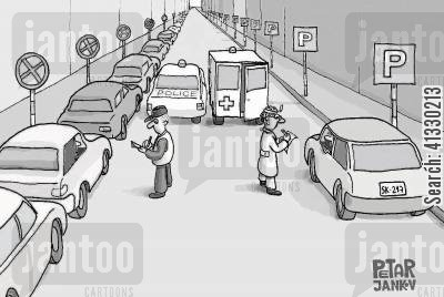 parking cartoon humor: Parking Area.