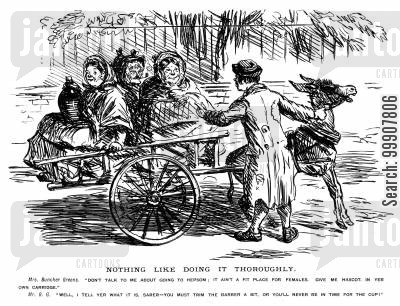 carriages cartoon humor: Nothing Like Doing It Thoroughly.