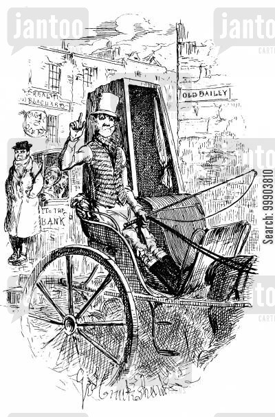 c dickens cartoon humor: Sketches by Boz - The Cab-Driver