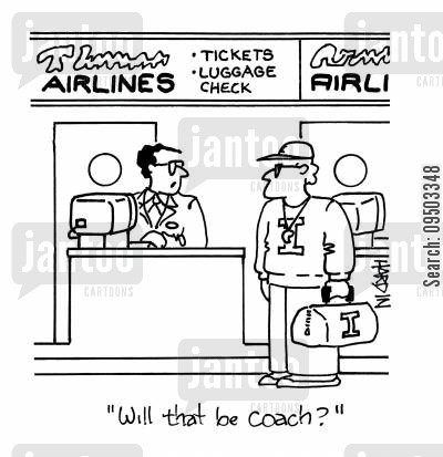 coached cartoon humor: 'Will that be coach?'