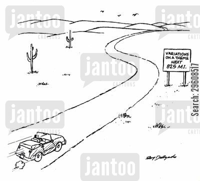 highways cartoon humor: Variations on the theme - next 825 mi.