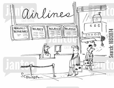 delayed cartoon humor: Airlines