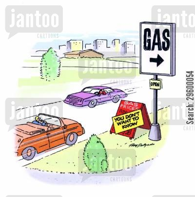 cost of fuel cartoon humor: Gas Prices - You Don't Want To Know.