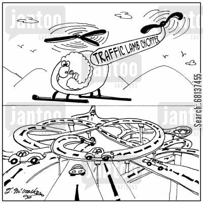 choppers cartoon humor: Traffic Lamb-Chopper.