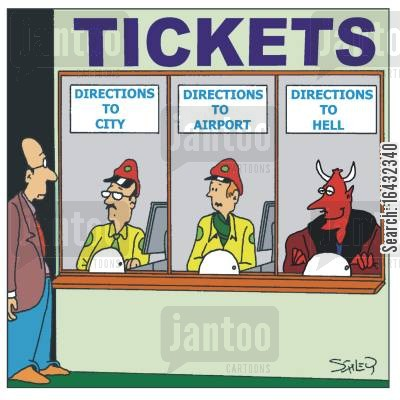 metro cartoon humor: Public Transport: Hell