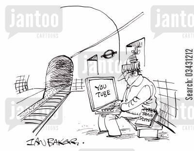 metro cartoon humor: Youtube train spotter.