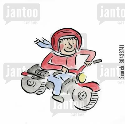 motorbike gang cartoon humor: Motorbike