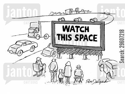 advertisements cartoon humor: Watch this space.