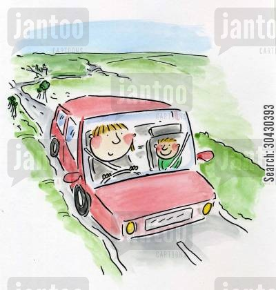 car journey cartoon humor: Car Journey.