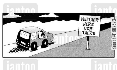 neither here nor there cartoon humor: Neither here nor there.