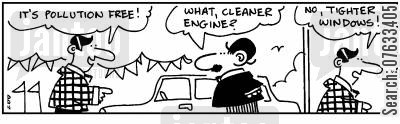 pollution free cartoon humor: It's pollution free!
