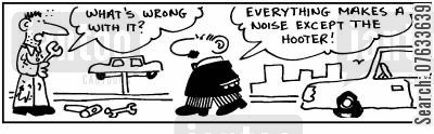 hooters cartoon humor: Everything makes a noise except the hooter!