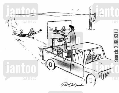 pickup truck cartoon humor: Run over painting.