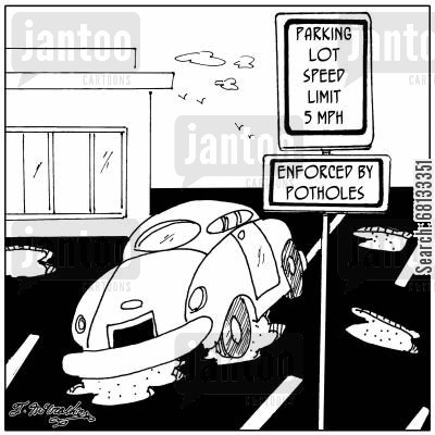 pothole cartoon humor: Potholes.