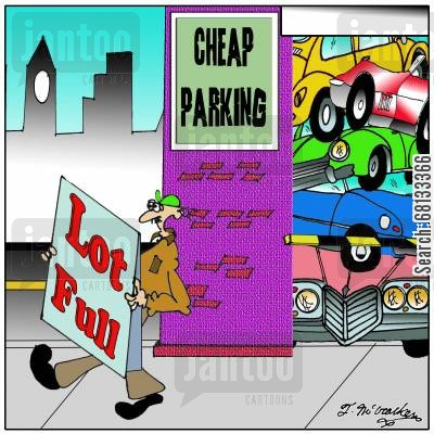 lots cartoon humor: Cheap Parking