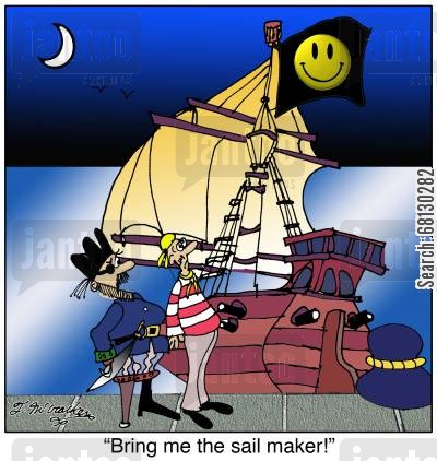 bad image cartoon humor: Bring me the sail maker!