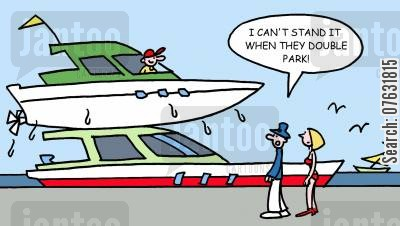 moors cartoon humor: I can't stand it when they double park!