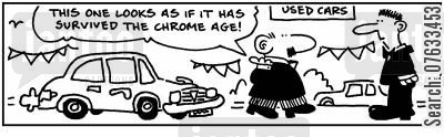 survived cartoon humor: This one looks as if it's survived the chrome age.