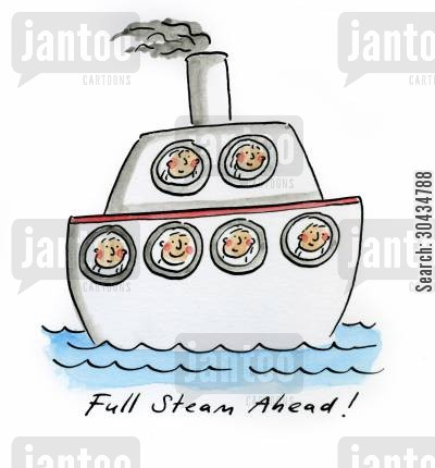 marines cartoon humor: Full Steam Ahead!