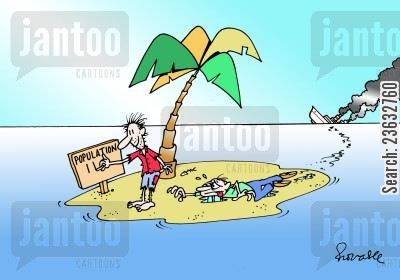 sinking ship cartoon humor: Shipwrecked - Population 2.