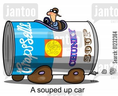 customise cartoon humor: A souped up car...