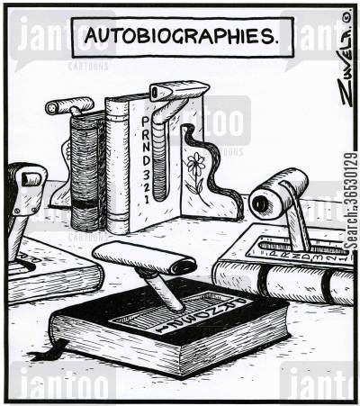 automatics cartoon humor: Autobiographies.