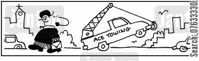 towed away cartoon humor: Ace Towing.