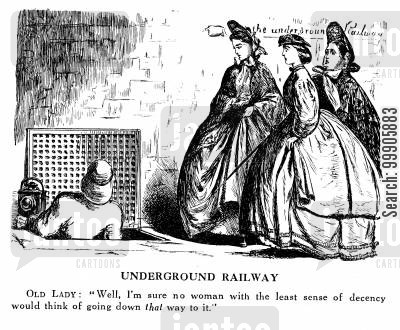 decency cartoon humor: The Underground Railway