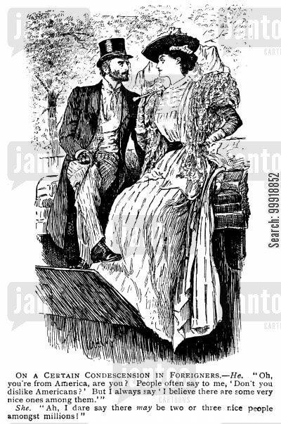 victorian tourist cartoon humor: On a Certian Condescension in Foreigners.