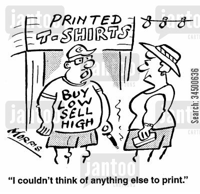 one track mind cartoon humor: Printed T-Shirts -I couldn't think of anything else to print