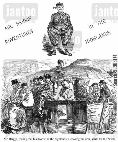northern cartoon humor: Mr. Briggs' Adventures in the Highlands, part 1.