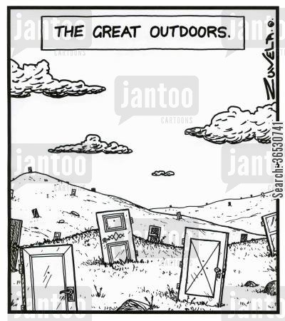 the great outdoors cartoon humor: The Great Outdoors.