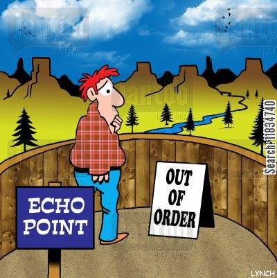 echo cartoon humor: Echo Point - out of order.