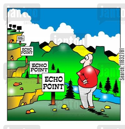 echo cartoon humor: Echo echo.