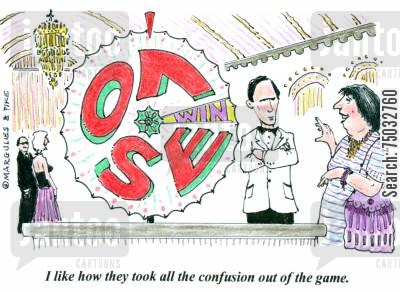 gambled cartoon humor: 'I like how they took all the confusion out of the game.'